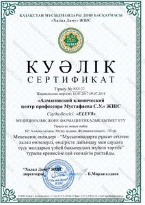 Куәлік сертификат Elev8