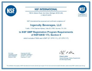 NSF International Certificate