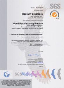 Сертификат SGS Швейцария